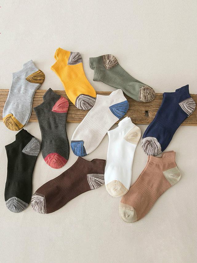 (預購)10雙男士襪子春夏季短襪防臭吸汗薄款棉襪(4)