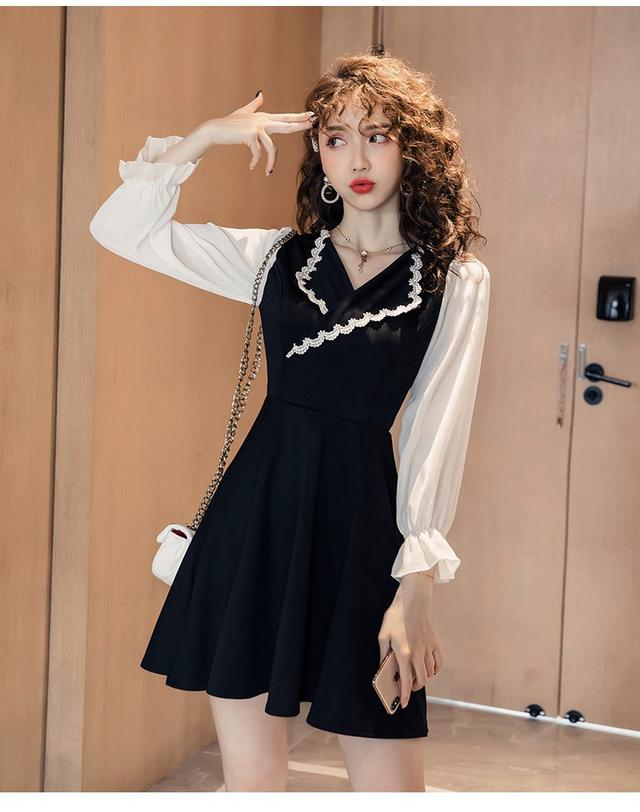 11 S-2XL 韓版 時髦西服領顯瘦連衣裙