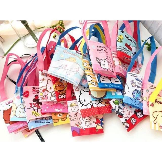 可愛卡通飲料手提杯袋(一組5個)