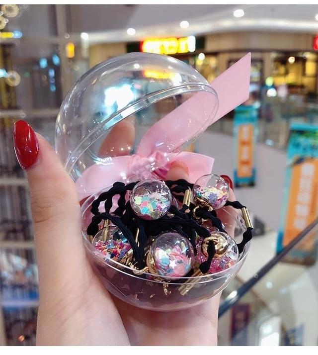 (預購e) 多款閃亮亮玻璃球髮圈(16入)