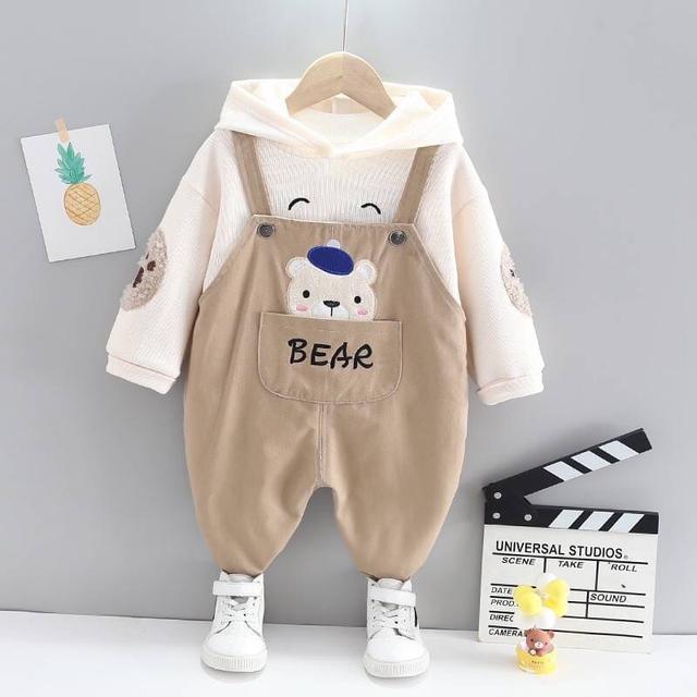 KD115-4 韓版熊熊吊帶褲套裝