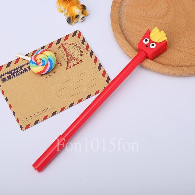食物造型中性筆矽膠頭材質 學生文具開學用品 日常生活 辦公室筆書寫文具 送禮造型筆