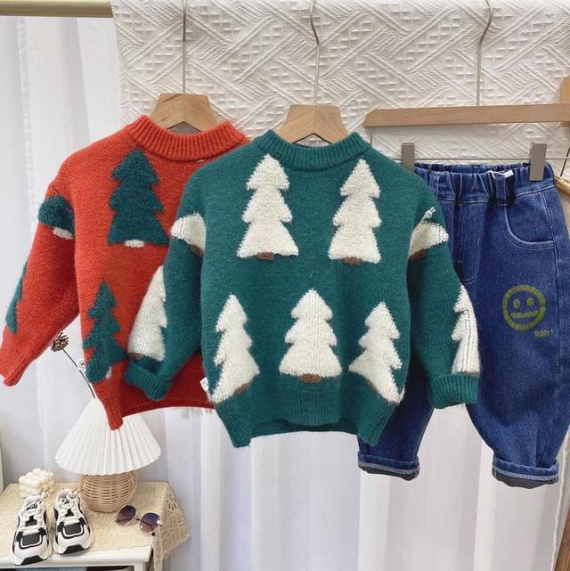聖誕節應景款~聖誕樹圖案毛衣🎄