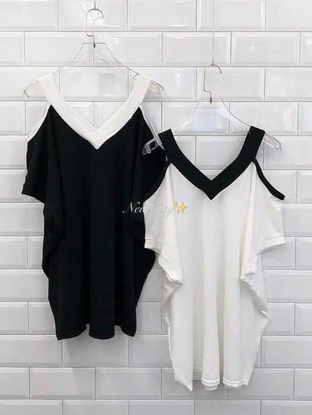 預購7-20天✨韓國配色v領寬鬆長版衣
