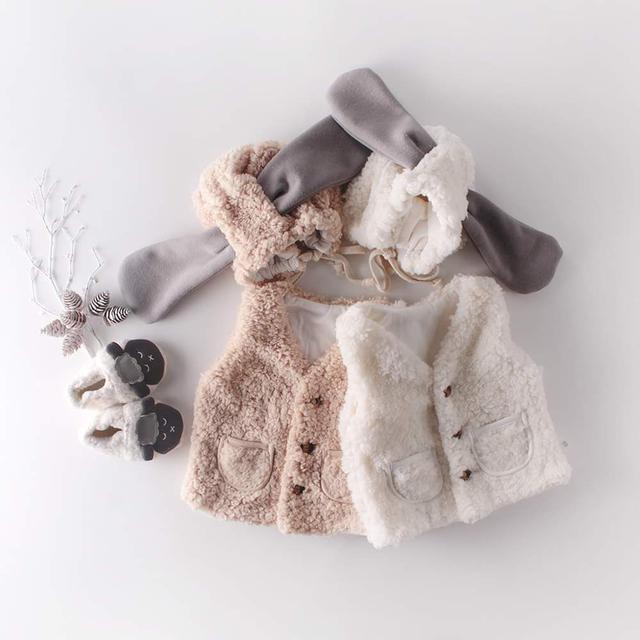 【預購】寶寶羊羔絨背心