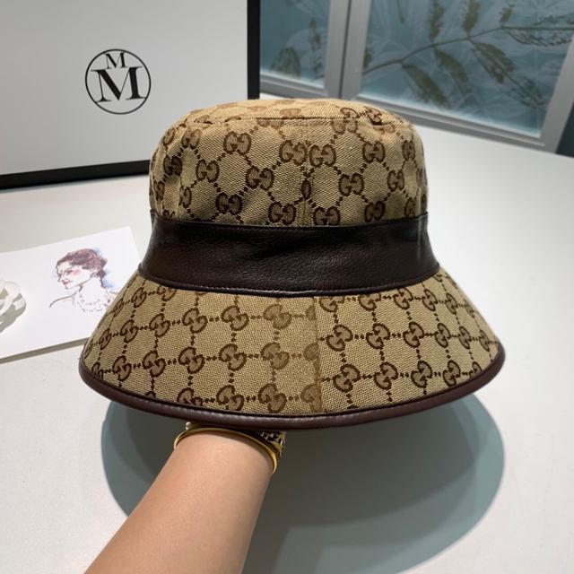 原单高品质 Gucci古奇2020秋季渔夫帽,原版帆布定制,轻盈透气!实物拍摄,男女通用!