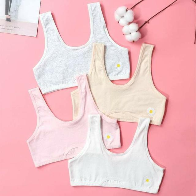 (預購S) B072 - 發育期透氣小雛菊棉質內衣