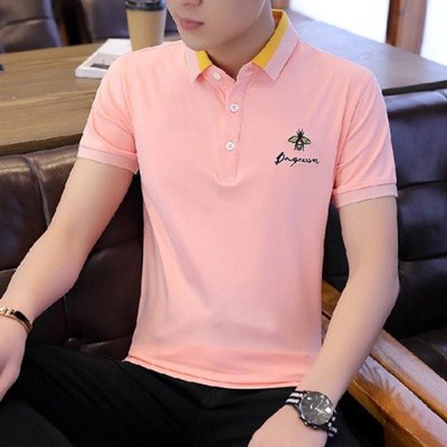 06 M-4XL 優質棉商務休閒短袖(5色)