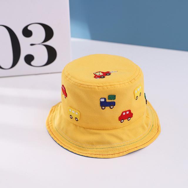 🔥廠商現貨🔥2021 3月 新款小汽車寶寶漁夫帽 小孩子遮陽帽 童帽批發