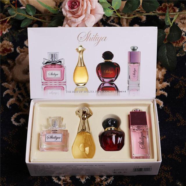【禮盒裝爆款】淡雅迷人女神香水禮盒4瓶清新持久淡香學生香水女