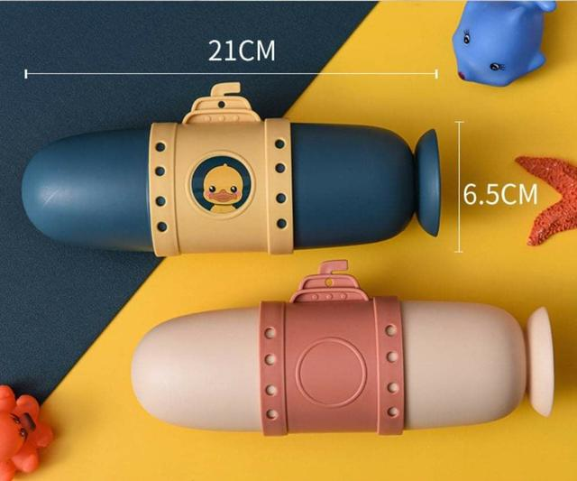 (預購S) G602 - 潛水艇便攜式杯子盥洗牙刷收納盒(一組兩個)