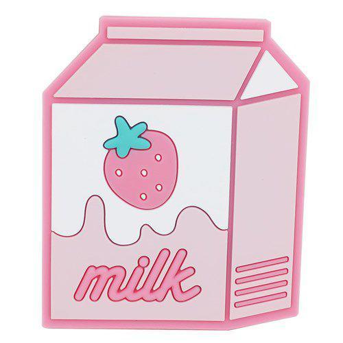 草莓牛奶 造型 隨身鏡
