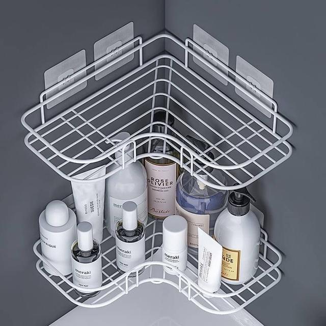 🔹免打孔 置物架 浴室 廚房收納架