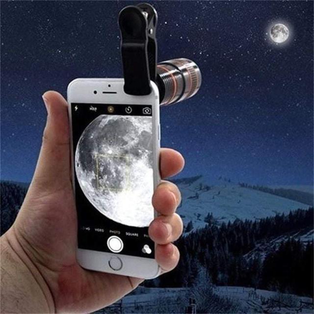 (預購S) N067 - 手機8倍長焦外接鏡頭望遠鏡