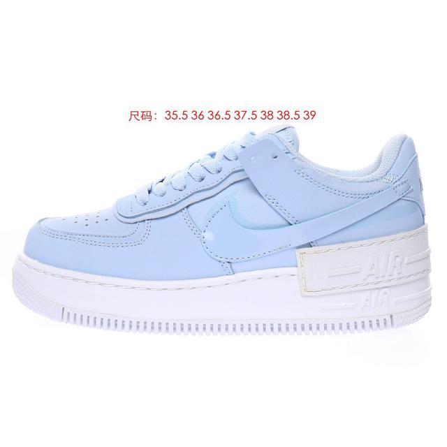 """Blue""""空軍一號輕量增高低幫百搭板鞋""""淡藍白""""CV3020-400"""