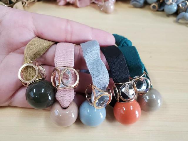 韓國鑽石簍空髮繩5入(厚繩款)