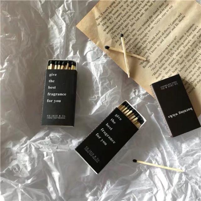 香氛蠟燭復古長火柴 便攜火柴 小盒火柴 手作品質