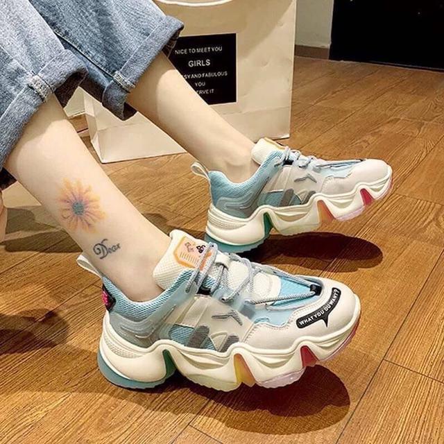 (預購)爆網紅彩虹底果凍老爹鞋