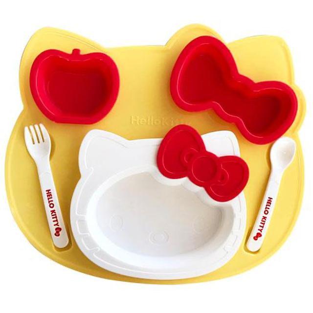 日本Hello Kitty 兒童餐盤組