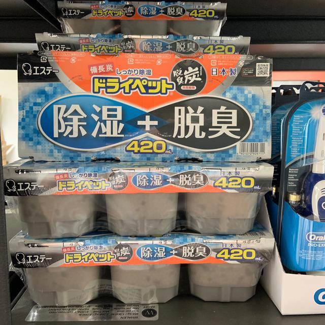 日本原裝 🇯🇵 ST 雞仔牌 備長炭 除濕脫臭盒 420ml*3盒