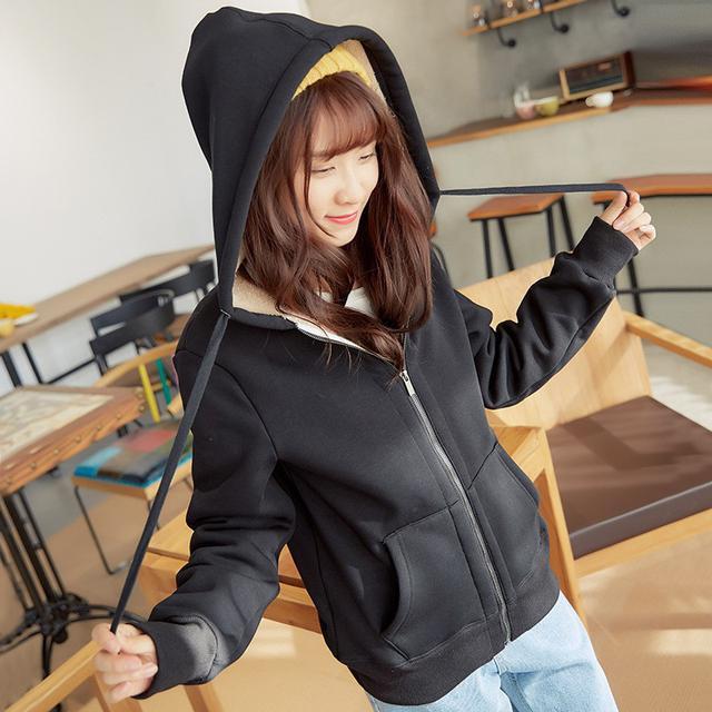 🍃預購🍃韓版休閒加厚羊羔絨保暖外套