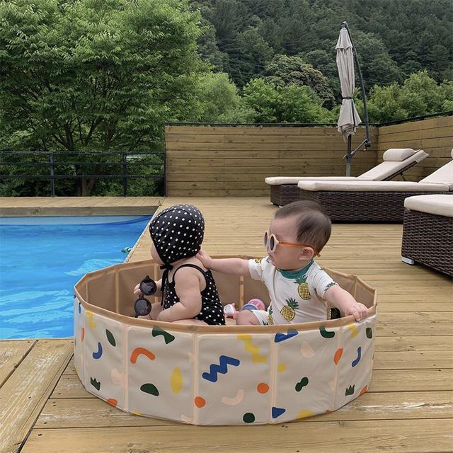 INS風折疊寶寶球池遊戲圍欄