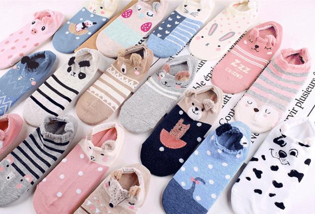日系淺口短襪子