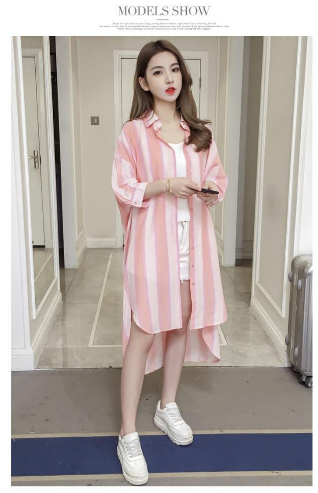 【預購】韓版時尚防曬中長休閒外套