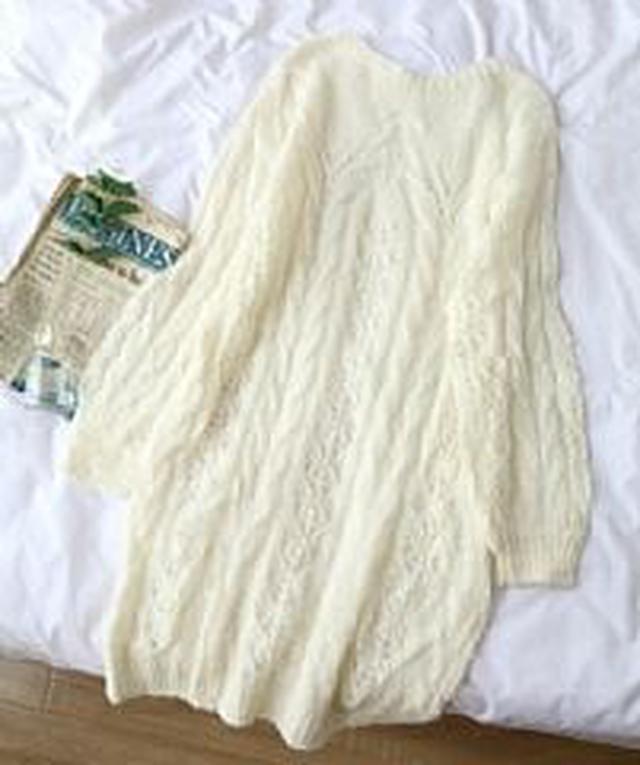 #16192 韓版針織麻花洋裝