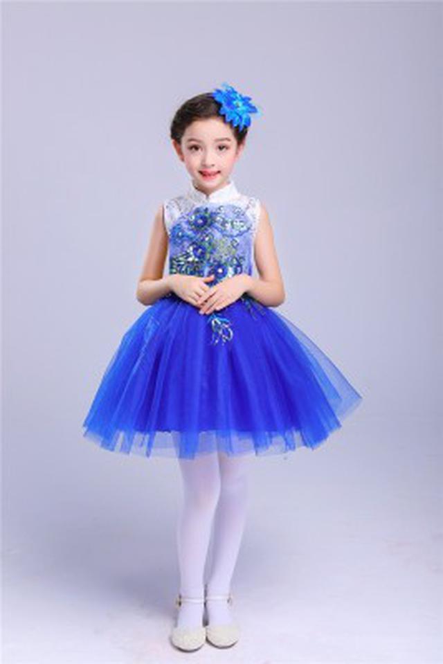 (預購)藍色兒童演出服女童公主裙幼蓬蓬裙(II)