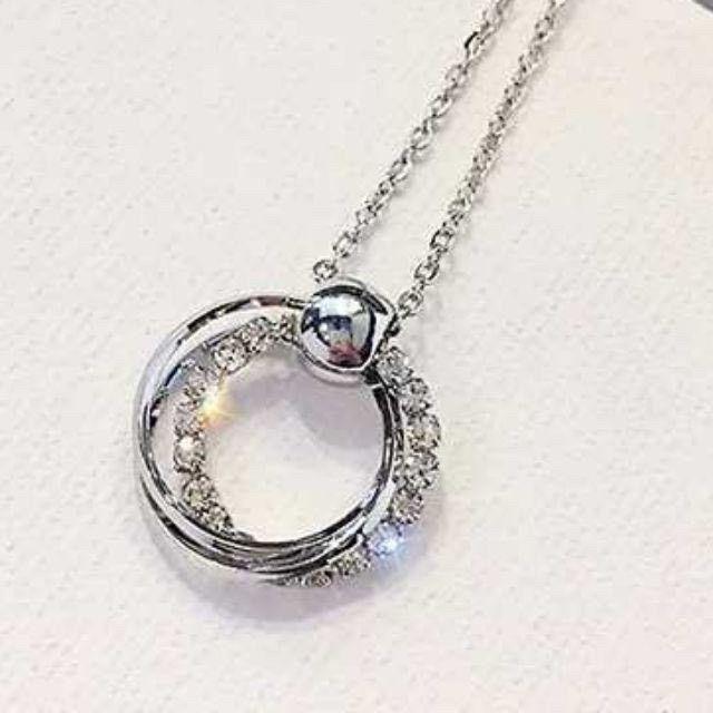 (預購e) 香港黃大仙 三環鑽銀珠轉運項鍊