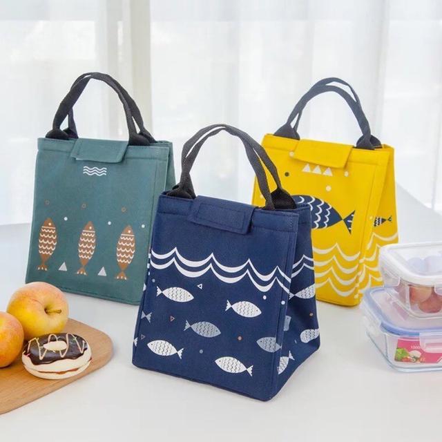 小魚手提包便當包 便當袋 戶外野餐保溫保冷包 保冰袋 保溫包   野餐手提袋 手提袋保鮮冰包