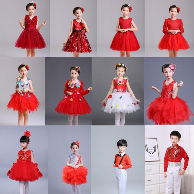 (預購)兒童表演服幼兒舞蹈女童禮服公主裙蓬蓬纱裙(I)