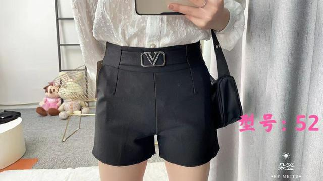 法式四種黑色短褲