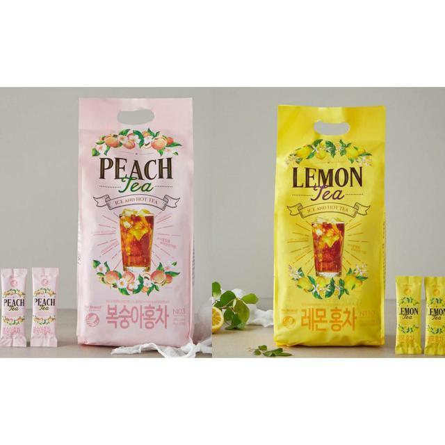 韓國 NO BRAND 檸檬紅茶 水蜜桃紅茶 (14g*120)/包