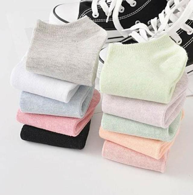 (預購S) B069 - 限量優惠繽紛透氣短襪(一組10雙)