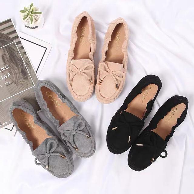 防滑豆豆女鞋