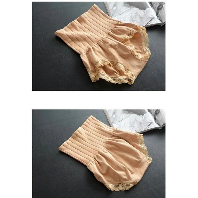 (預購e)日本新款MUNAFIE無縫高腰微神奇收腹蕾絲內褲
