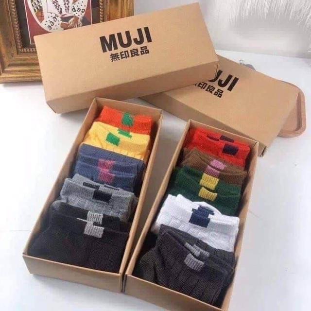 日系拼色彩虹襪精裝版10雙入