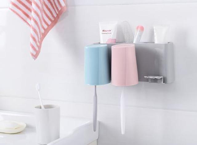 北歐風三口壁掛牙刷架 居家實用物品 浴室用品 牙刷置物架(牙刷架 / 浴室用品 / 置物架)