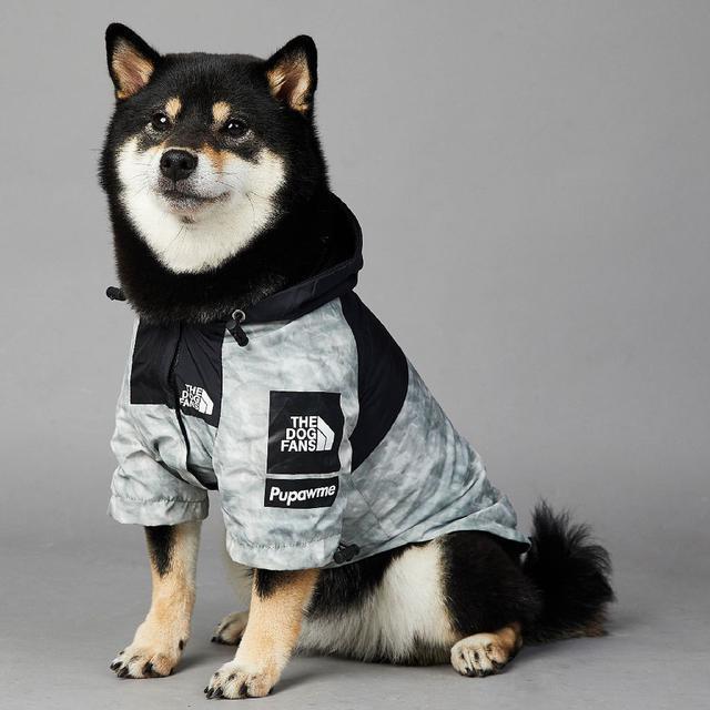🔴潮牌防風防雨北面新款狗狗#大型犬雨衣