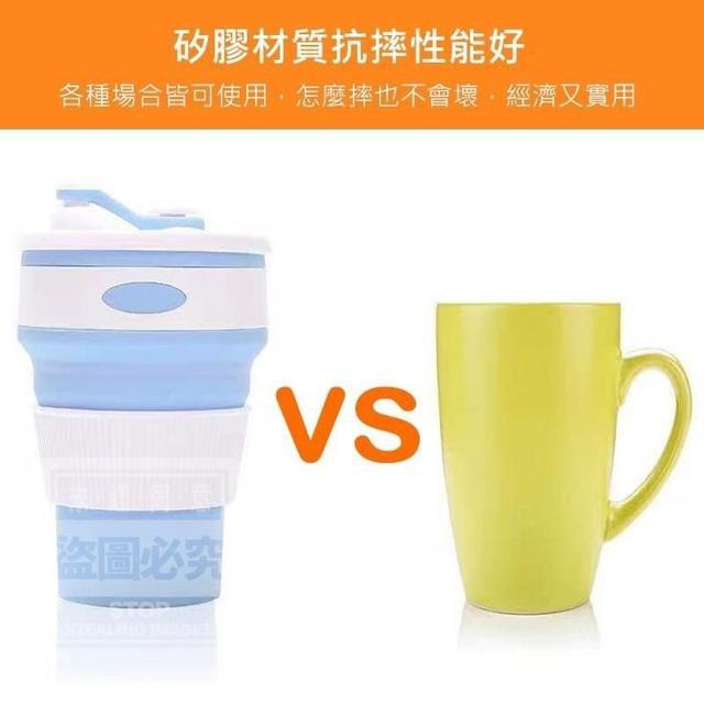(預購e) 馬卡龍矽膠伸縮摺疊杯