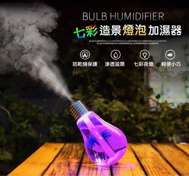 (預購S) DIY七彩造景燈泡加濕器