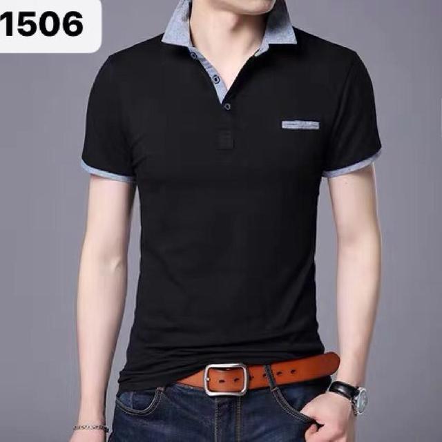 大码短袖t恤男衬衫领纯棉青年polo衫加大潮流胖人T恤衫有领夏