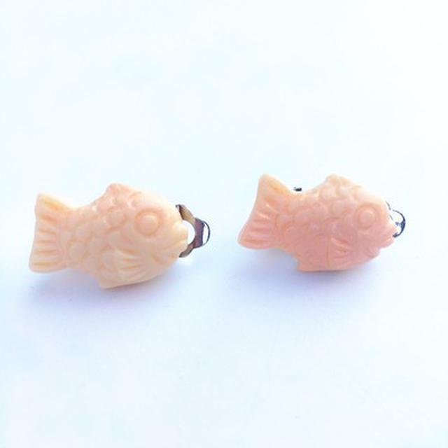 鯛魚燒造型耳環