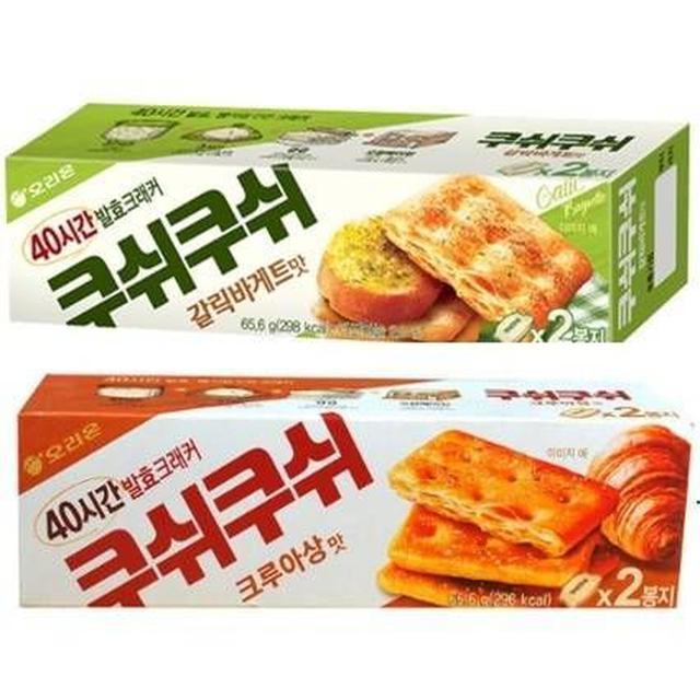 韓國 ORION 千層蘇打餅 65.6g 蒜味/焦糖