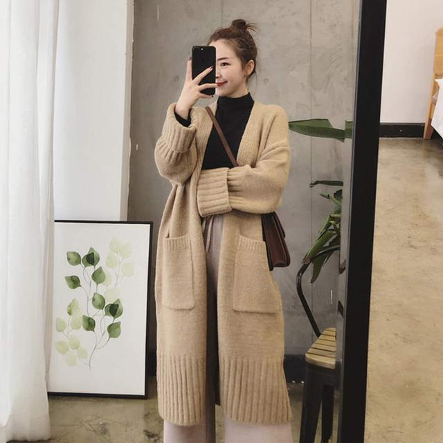 【預購】韓系中長版針織外套