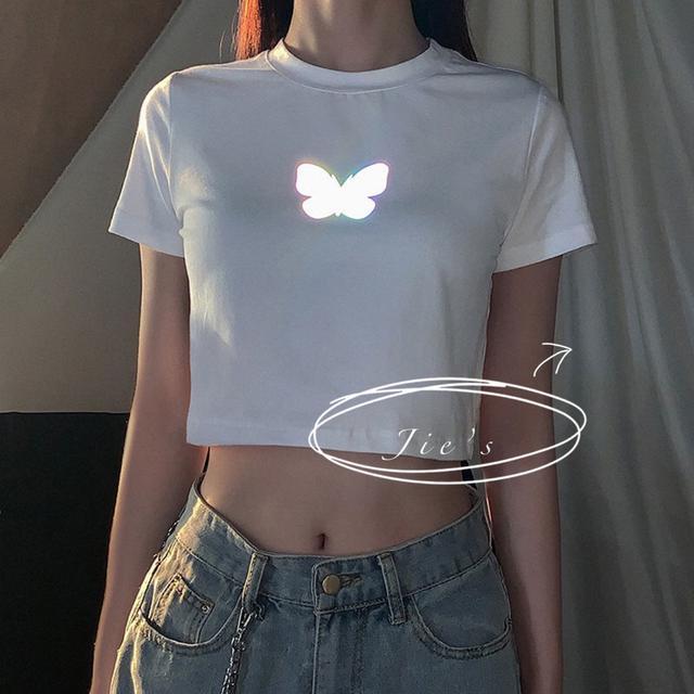 反光蝴蝶tee