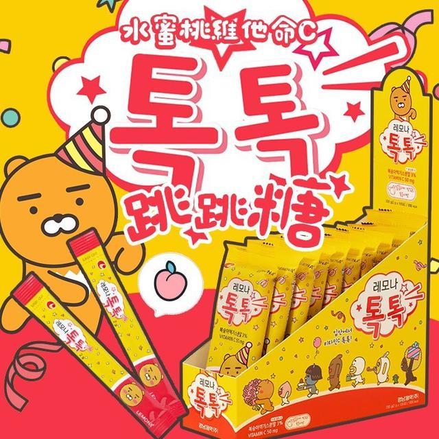 預購 LEMONA x KAKAO 水蜜桃維他命C跳跳糖 2g x 10入組8/20收單