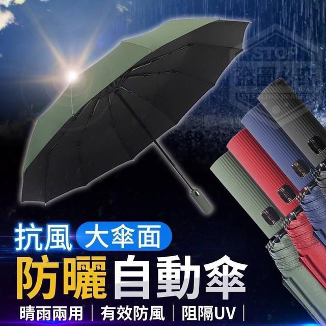 抗風大傘面黑膠防曬全自動傘◇缺色隨機